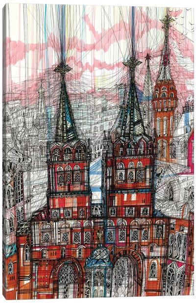 Iberian Gate&Chapel Canvas Art Print