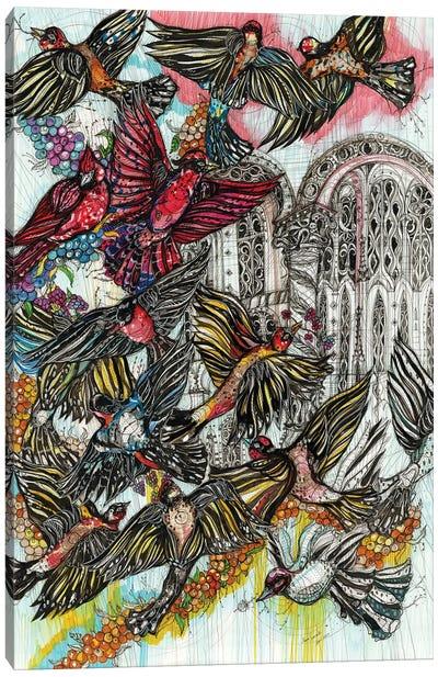 Blueberry Birds Canvas Art Print