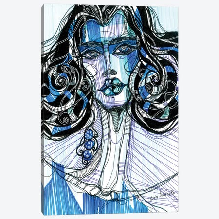 Blue Girl Canvas Print #SSR13} by Maria Susarenko Art Print