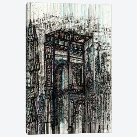 Milan Cityscape 3-Piece Canvas #SSR146} by Maria Susarenko Canvas Wall Art