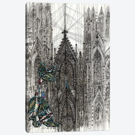 St.Patrick's Cathedral Canvas Print #SSR148} by Maria Susarenko Canvas Art Print