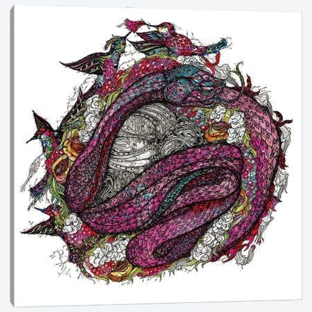 Blueberry Snake Canvas Print #SSR150} by Maria Susarenko Canvas Wall Art