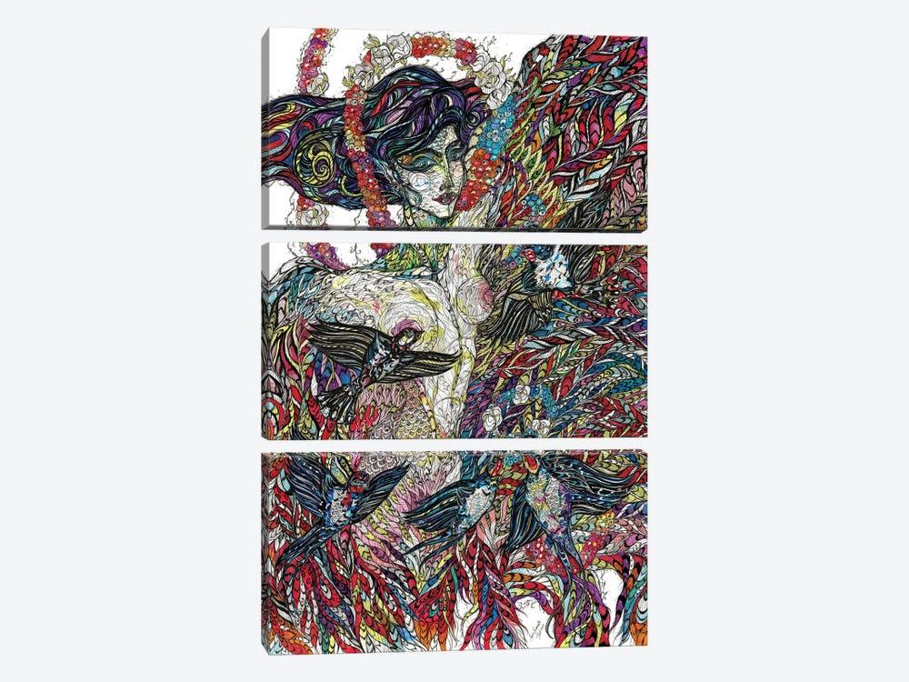 Sirin. The Bird of Joy by Maria Susarenko 3-piece Canvas Print