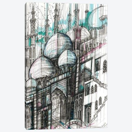 The Sheikh Zayed Mosque. Abu Dhabi Canvas Print #SSR155} by Maria Susarenko Canvas Print