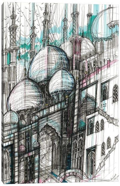 The Sheikh Zayed Mosque. Abu Dhabi Canvas Art Print