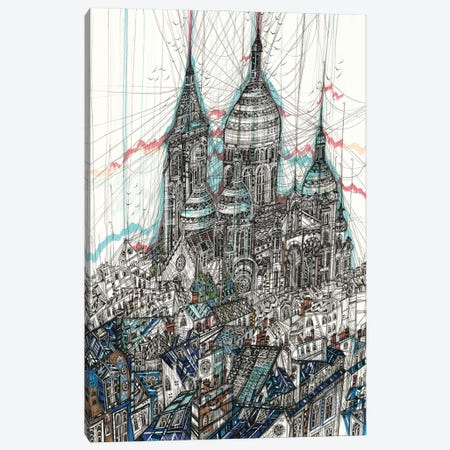 Sacre-Coeur Basilica Canvas Print #SSR156} by Maria Susarenko Canvas Print