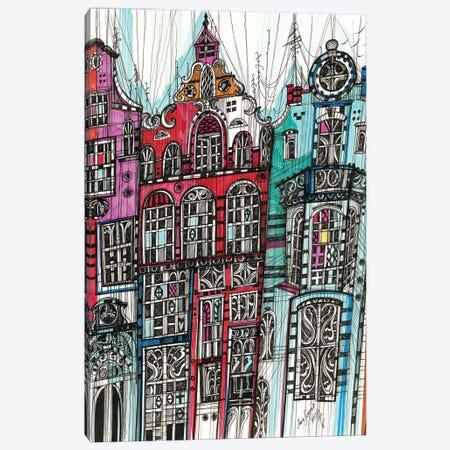 Amsterdam Cityscape Canvas Print #SSR157} by Maria Susarenko Art Print