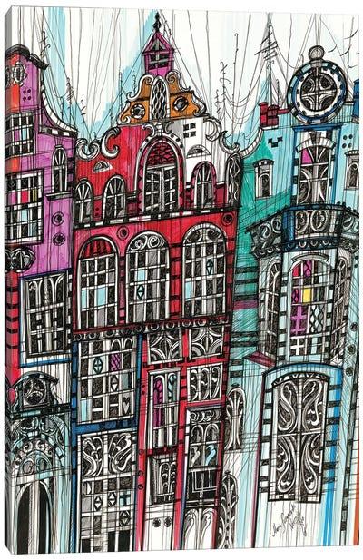 Amsterdam Cityscape Canvas Art Print