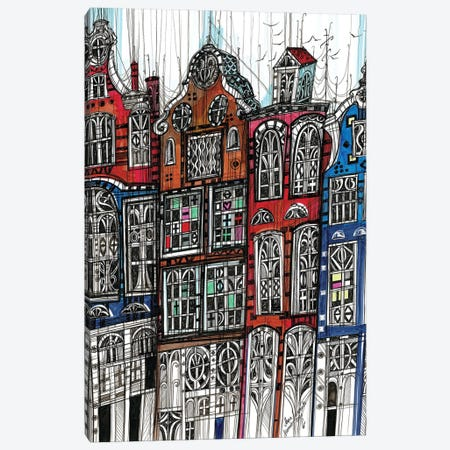 Amsterdam Cityscape II Canvas Print #SSR159} by Maria Susarenko Canvas Art