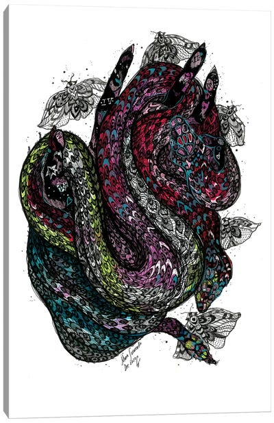 Pink Snake Canvas Art Print