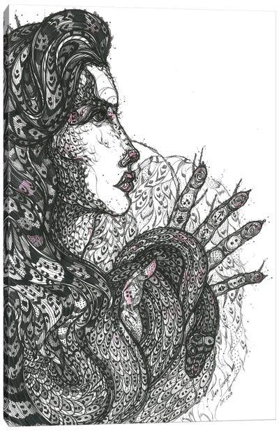 Graphic Medusa Canvas Art Print