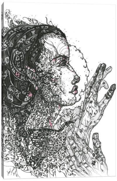 Graphic Medusa II Canvas Art Print