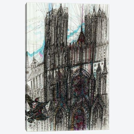 Reims Cathedral Canvas Print #SSR172} by Maria Susarenko Canvas Artwork