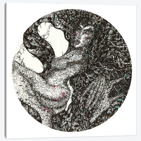 Fire Walk With Me. Tondo II Canvas Print #SSR177} by Maria Susarenko Art Print