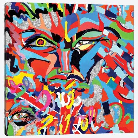 Born Villain Canvas Print #SSR17} by Maria Susarenko Canvas Art