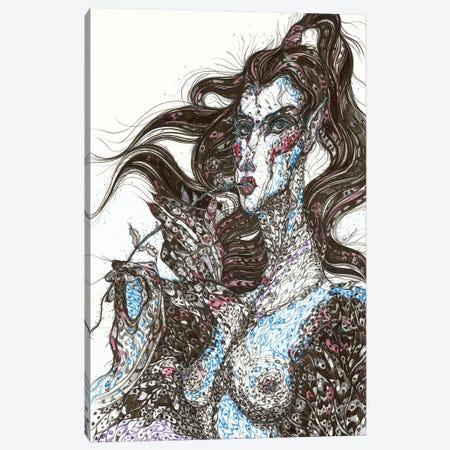 Sirin. Graphic Bird Canvas Print #SSR180} by Maria Susarenko Art Print
