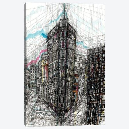 Flatiron Building Canvas Print #SSR181} by Maria Susarenko Canvas Art Print