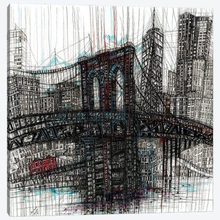 Brooklyn Bridge Canvas Print #SSR182} by Maria Susarenko Canvas Print