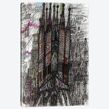 Sagrada Familia. Barcelona Canvas Print #SSR185} by Maria Susarenko Canvas Wall Art