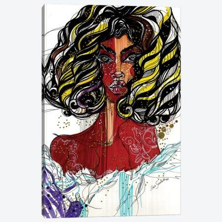 Caramel Glitter Canvas Print #SSR21} by Maria Susarenko Canvas Wall Art