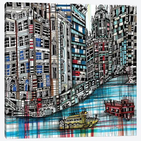 Chicago Canvas Print #SSR22} by Maria Susarenko Canvas Wall Art