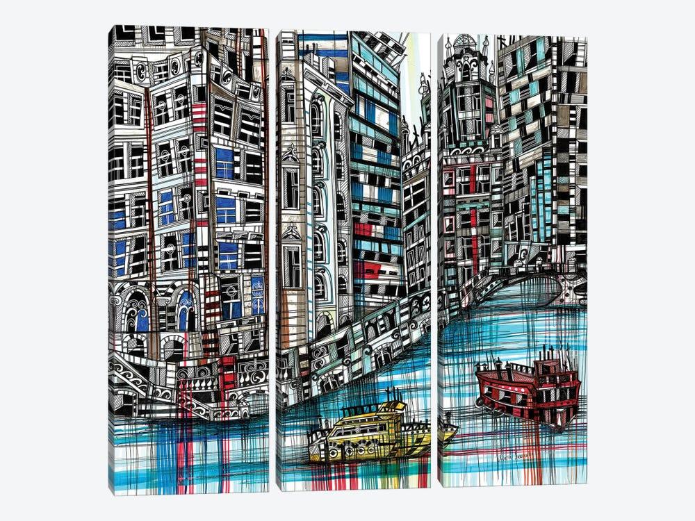 Chicago by Maria Susarenko 3-piece Canvas Wall Art