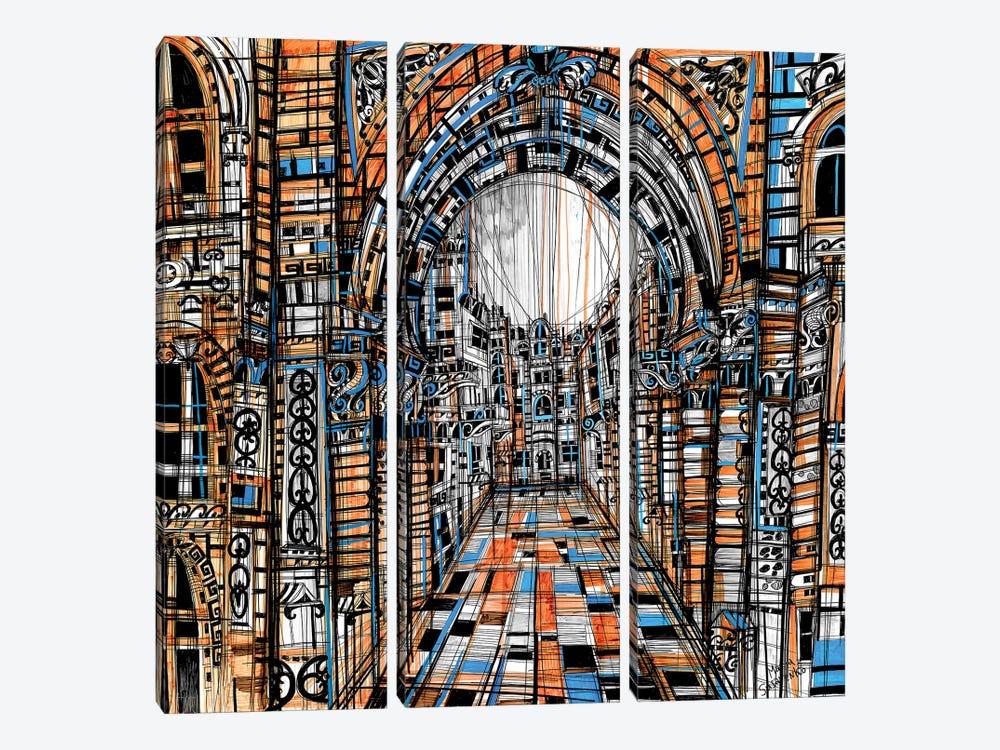 Eye Contact by Maria Susarenko 3-piece Canvas Art Print