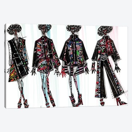 Fashion Illustration III Canvas Print #SSR35} by Maria Susarenko Canvas Artwork