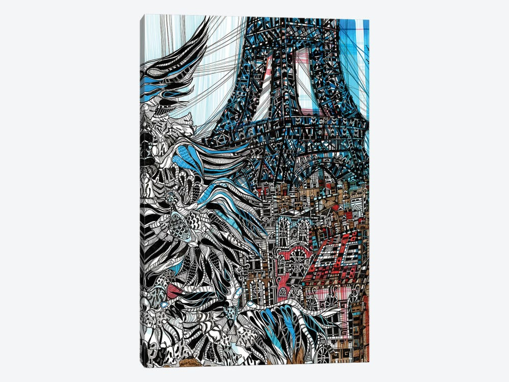From Paris With Love  by Maria Susarenko 1-piece Canvas Art Print