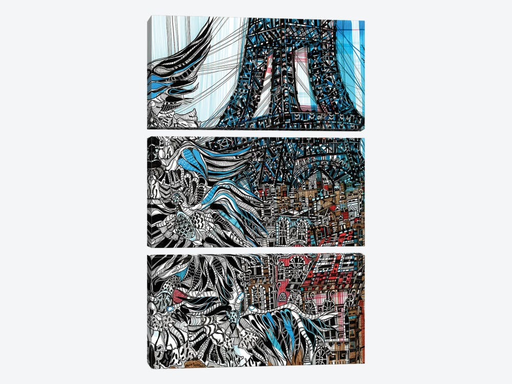 From Paris With Love  by Maria Susarenko 3-piece Art Print