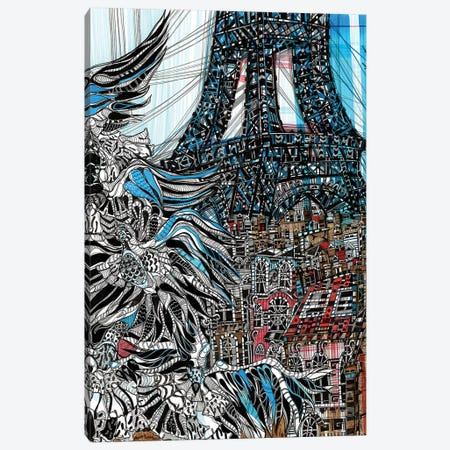 From Paris With Love  Canvas Print #SSR36} by Maria Susarenko Canvas Wall Art