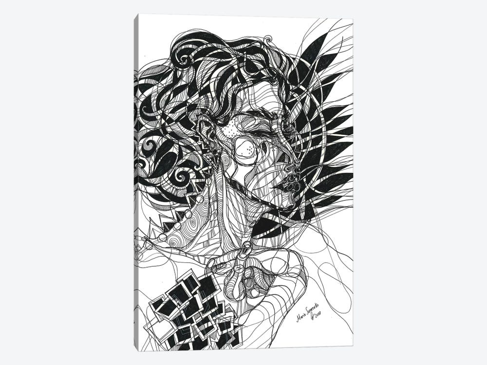 Graphic Girl 1-piece Canvas Art