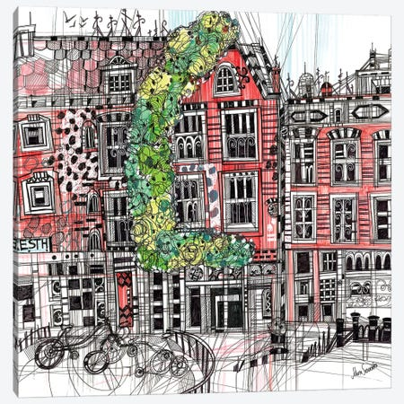 Amsterdam I Canvas Print #SSR3} by Maria Susarenko Canvas Artwork