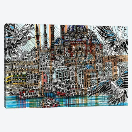 Istanbul 3-Piece Canvas #SSR42} by Maria Susarenko Canvas Art