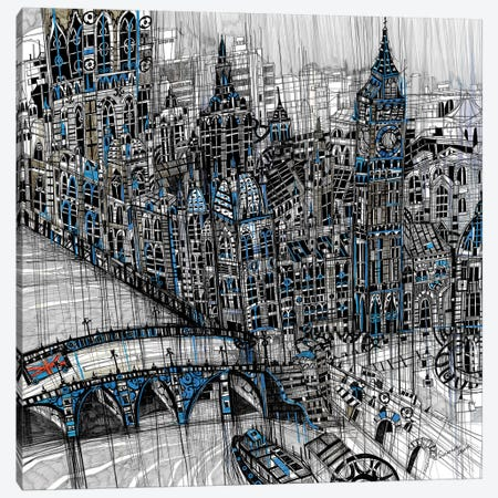 London Canvas Print #SSR45} by Maria Susarenko Canvas Art Print