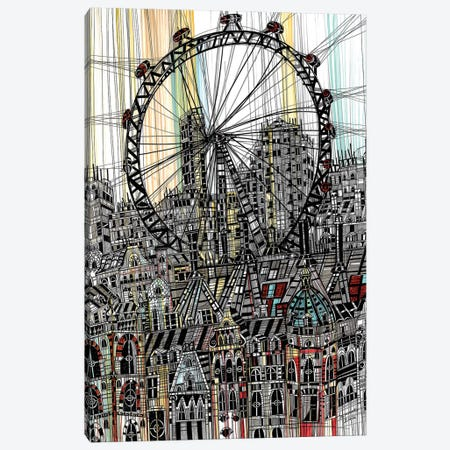 London Eye II 3-Piece Canvas #SSR47} by Maria Susarenko Canvas Art Print