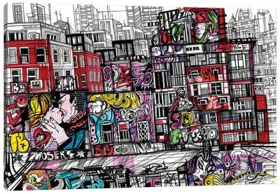 New York.Urban Graffiti Canvas Art Print