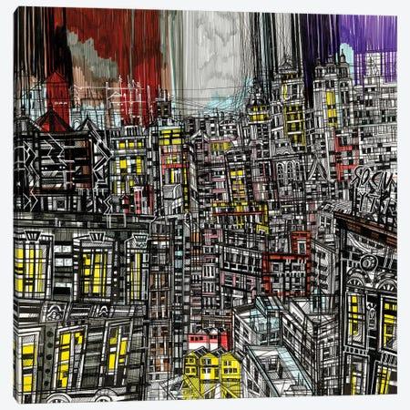 Night Lights Canvas Print #SSR50} by Maria Susarenko Canvas Art Print