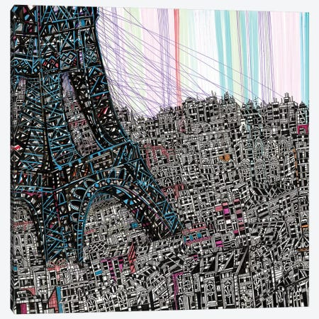 Paris 3-Piece Canvas #SSR55} by Maria Susarenko Canvas Wall Art