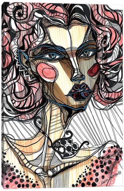 Pink Girl I Canvas Art Print