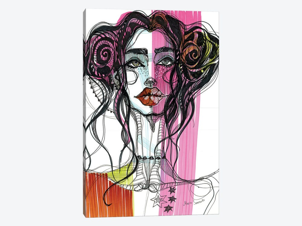 Pink Girl II 1-piece Canvas Art