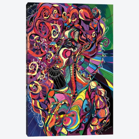Poison Black Canvas Print #SSR59} by Maria Susarenko Art Print