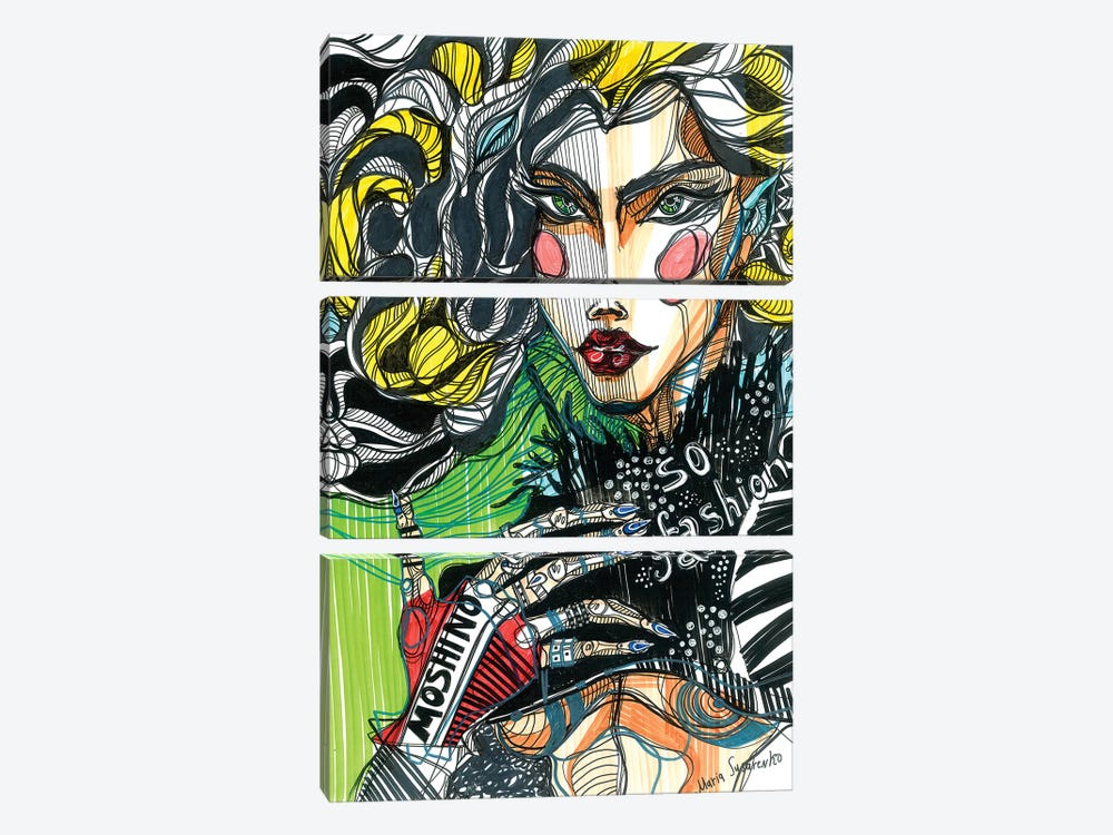 Poison Green by Maria Susarenko 3-piece Canvas Artwork