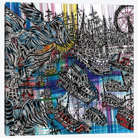 Red Blue Canvas Print #SSR62} by Maria Susarenko Canvas Wall Art