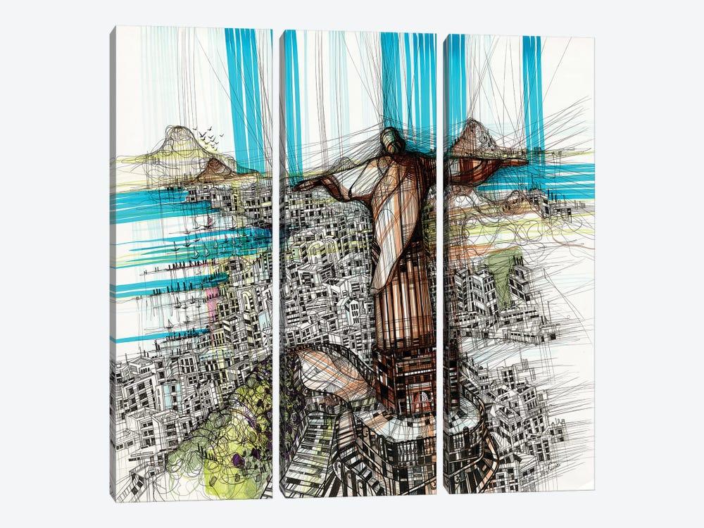 Riodejaneiro by Maria Susarenko 3-piece Art Print