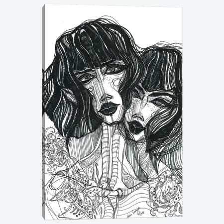 Sisters Canvas Print #SSR76} by Maria Susarenko Canvas Wall Art