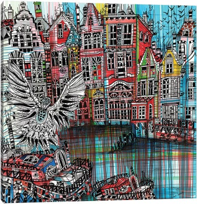 Amsterdam Urban Canvas Art Print