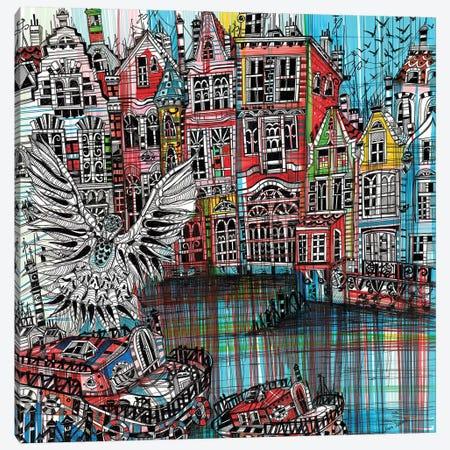 Amsterdam Urban Canvas Print #SSR7} by Maria Susarenko Art Print