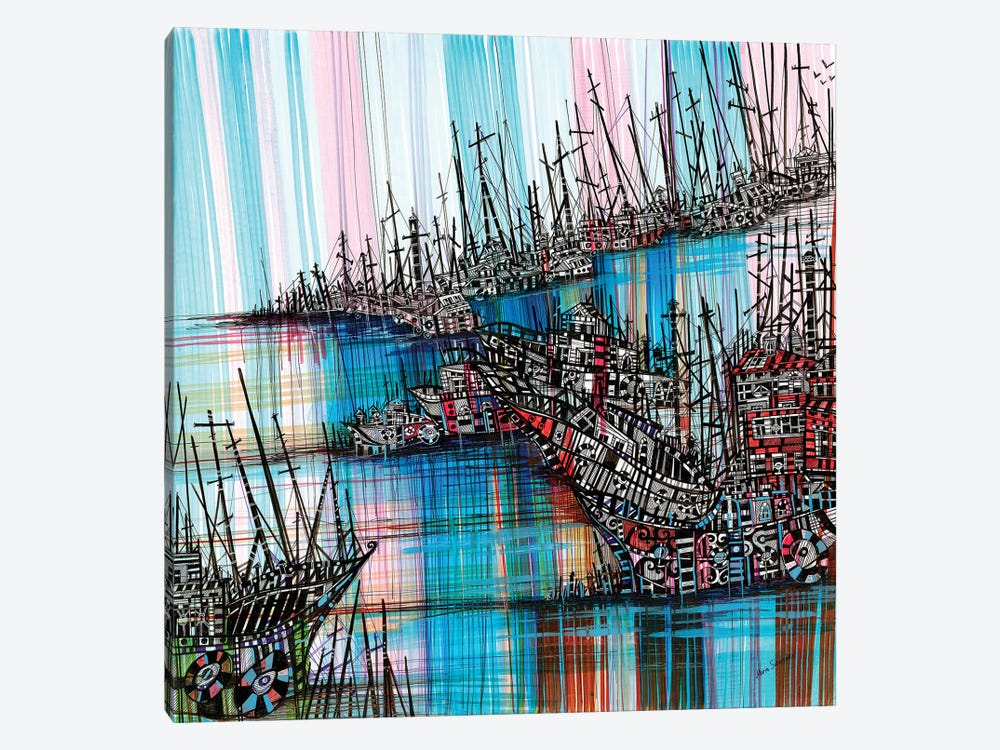 Tidal Wave by Maria Susarenko 1-piece Canvas Art
