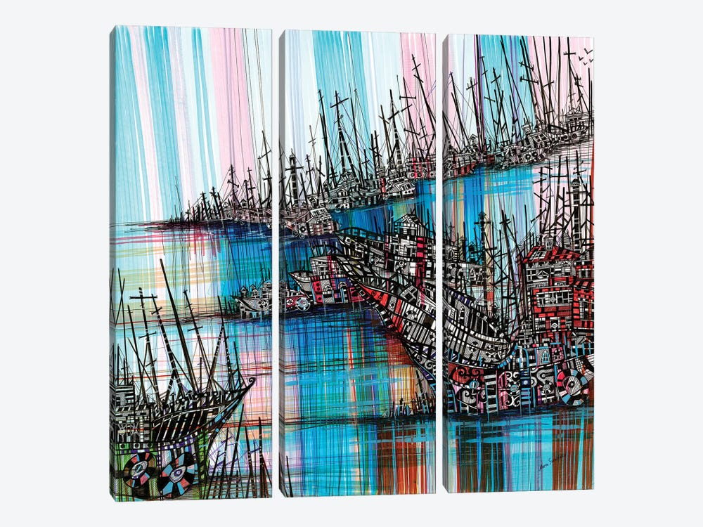 Tidal Wave by Maria Susarenko 3-piece Canvas Artwork